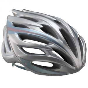 Bontrager Circuit WSD Road Helmet/ Silver/Light Blue/Pink