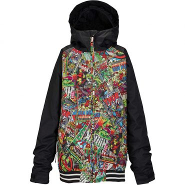Marvel x Burton Boys Game Day Jacket 2017/ Marvel/ True Black