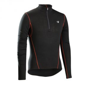 Bontrager B3 1/4 Zip Long Sleeve Baselayer / Black