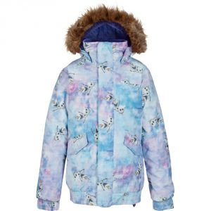 Disney Frozen Girl's Twist Bomber Snowboard Jacket 2016/ Olaf Frozen Print © Disney
