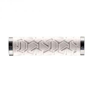 Bontrager Rhythm Plus Double Lock-On Grip / White/Silver