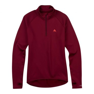Burton Women's Expedition 1/4 Zip Base Layer 2017/ Sangria