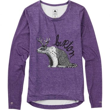 Burton Women's Base Layer Tech Tee 2017/ Polar Deer