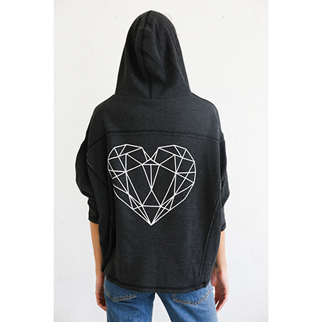 SQUARE Heart Hoodie